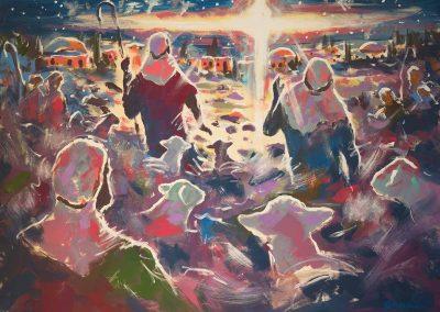 Shepherds in the Fields - DTW Orginal by Paul Oman