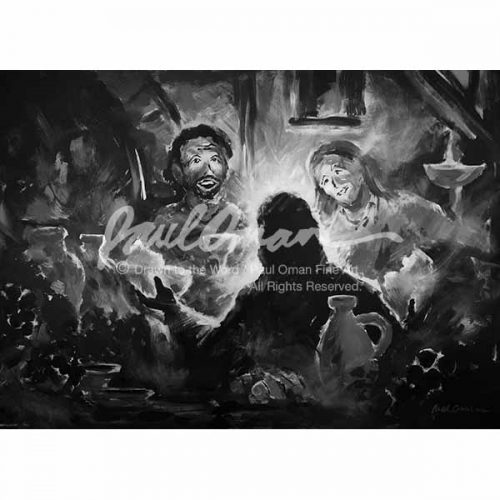Then Their Eyes Were Opened, Road to Emmaus, Breaking of Bread B&W