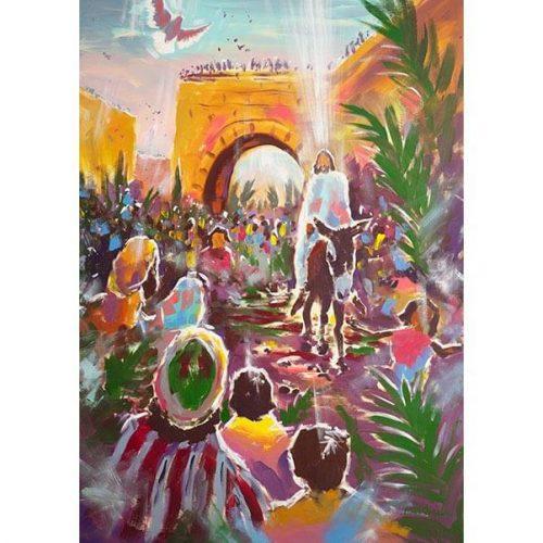 Palm Sunday - Jesus Rides Into Jerusalem (Downloadable Image License)