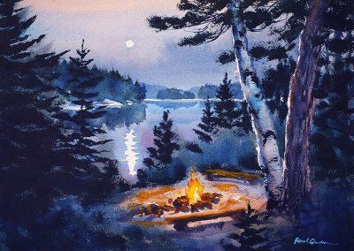 Campfire Moonlight