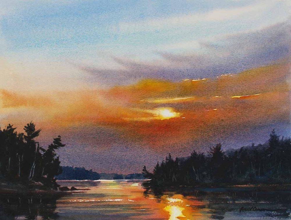 Anticipation - original watercolor by Paul Oman