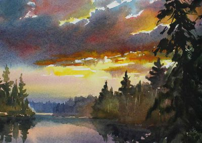 Distant Dreams - original watercolor by Paul Oman