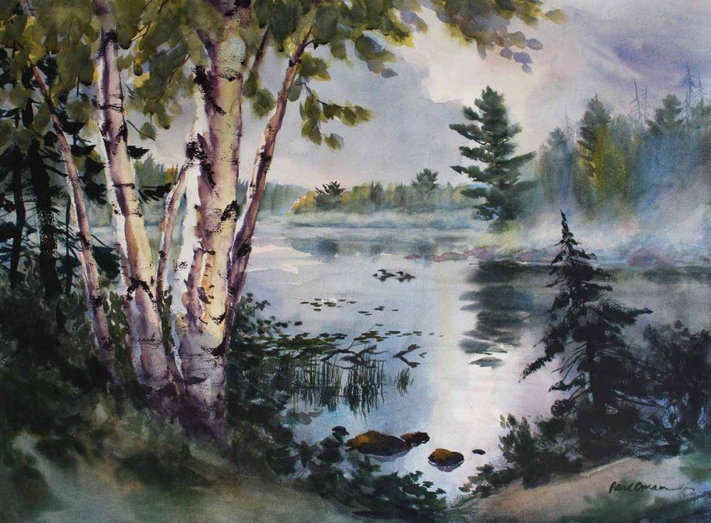 Northern Solitude - original watercolor by Paul Oman
