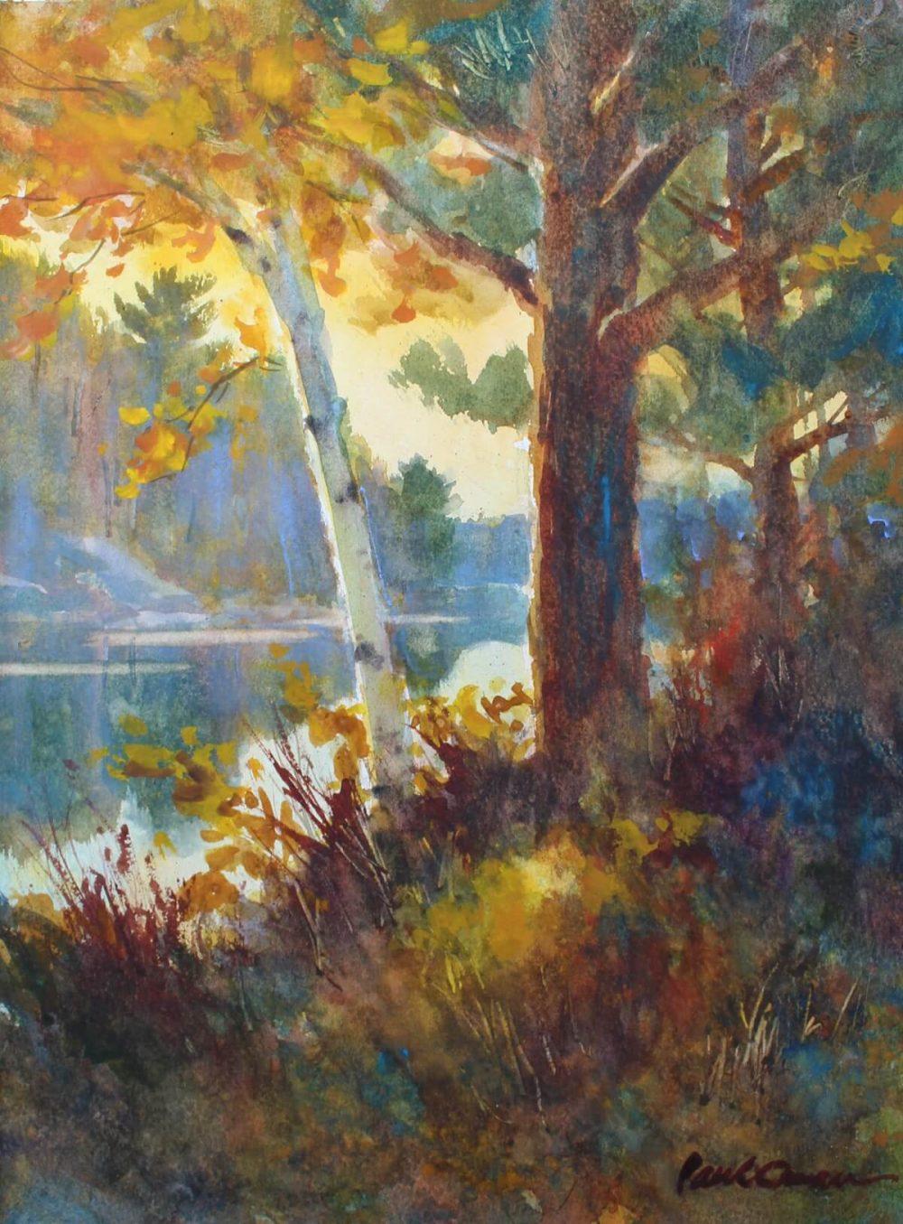 Evening Light watercolor Paul Oman