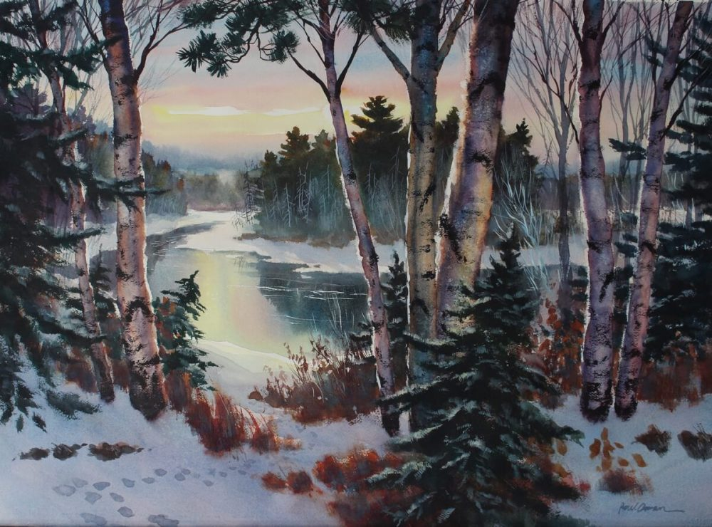 Quiet Meander watercolor Paul Oman