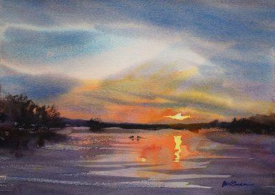 Loon Lake Sunset Paul Oman